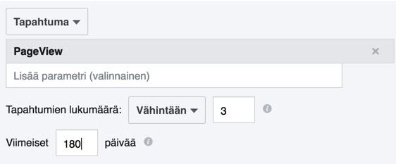 Facebook 3 sivua katselleet