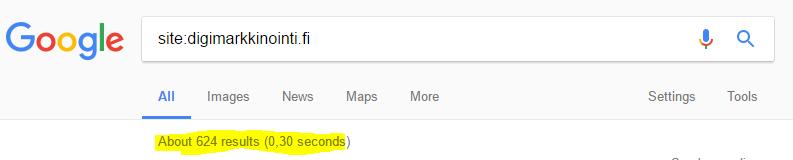 Site haku Googlessa